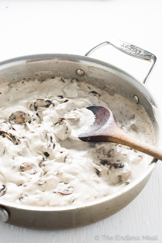Magic Mushroom Sauce | A rich and creamy, 100% vegan sauce. | theendlessmeal.com