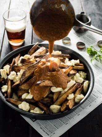 Vegetarian Butter Chicken Poutine | theendlessmeal.com