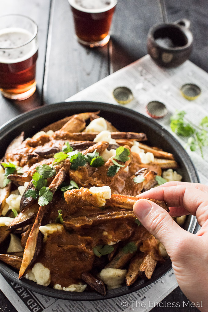 Vegetarian Butter Chicken Poutine | theendlessmeal.com