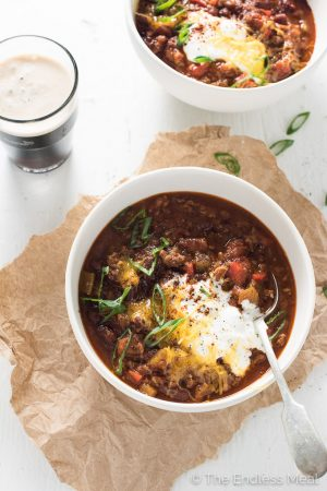 Guinness Spiked Irish Chili