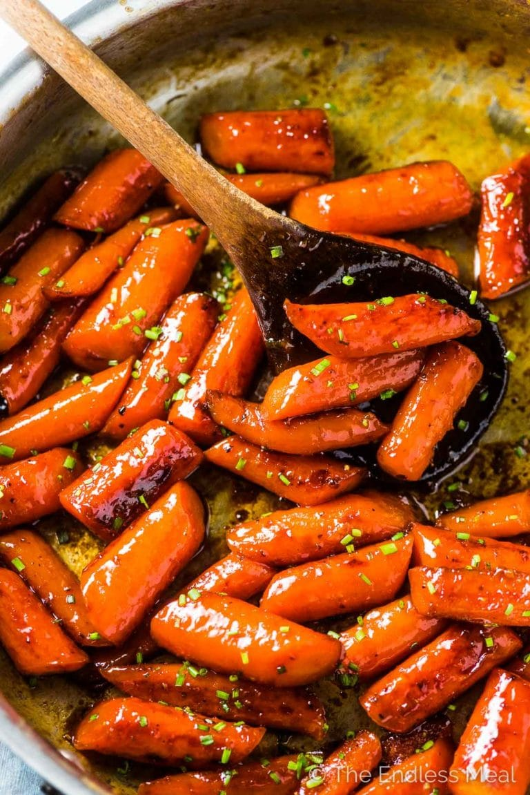 Spicy Honey Roasted Carrots Easy Side Dish The Endless Meal