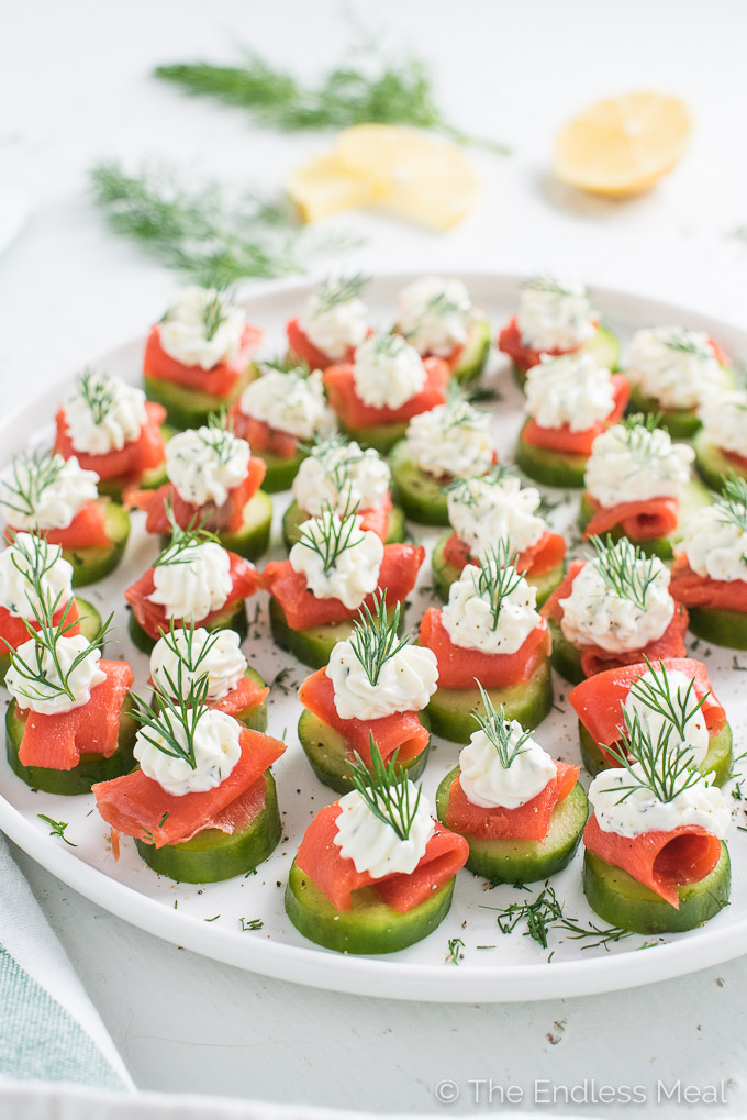 Smoked Salmon Appetizer Bites W Lemon Dill Cream Cheese