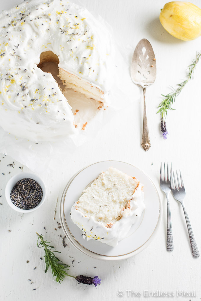 Lavender Lemon Angel Food Cake The Endless Meal