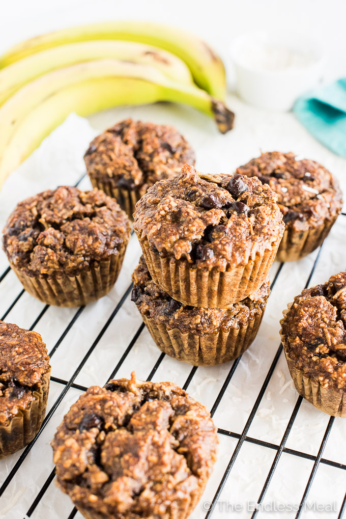 Coconut Almond Paleo Breakfast Muffins are grain-free, gluten-free, sugar-free, dairy-free and 100% delicious. You don't have to be paleo to fall in love with these banana muffins. They are amazing! | theendlessmeal.com