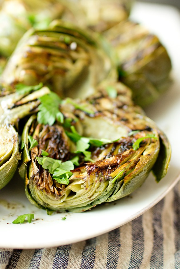 Grilled Artichokes with Sumac Dressing by The Gourmet Gourmand | The 15 Best Healthy Side Dishes for Your Summer BBQs