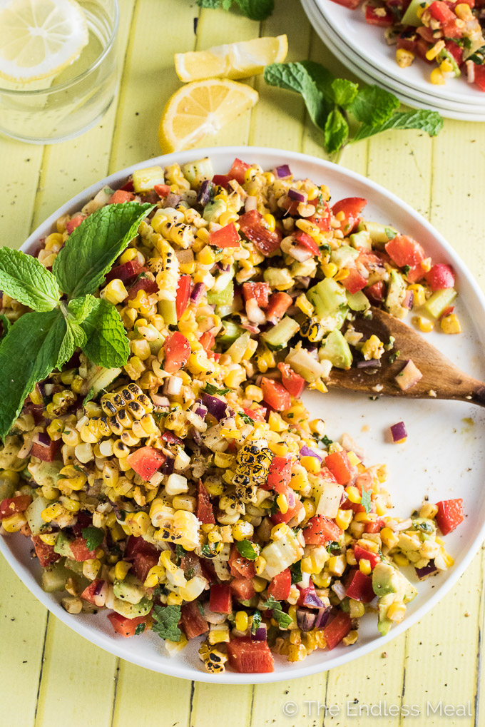 Roasted Corn Avocado Salad by The Endless Meal | The 15 Best Healthy Side Dishes for Your Summer BBQs