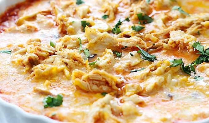 Chicken Enchilada Dip by Crème de la Crumb | The 15 Best Party Dips