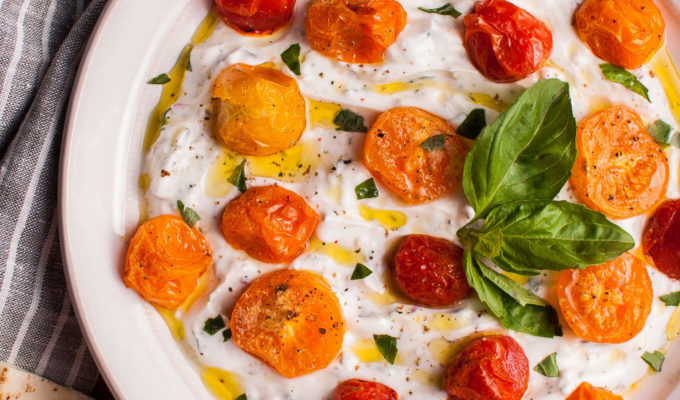 Greek Yogurt Dip with Roasted Tomatoes by Salt and Lavender | The 15 Best Party Dips