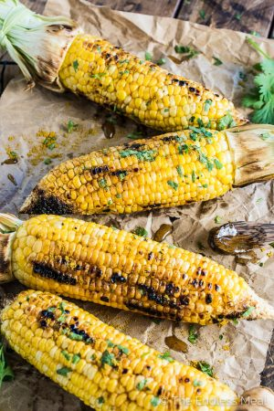 Grilled Sweet Curry Corn