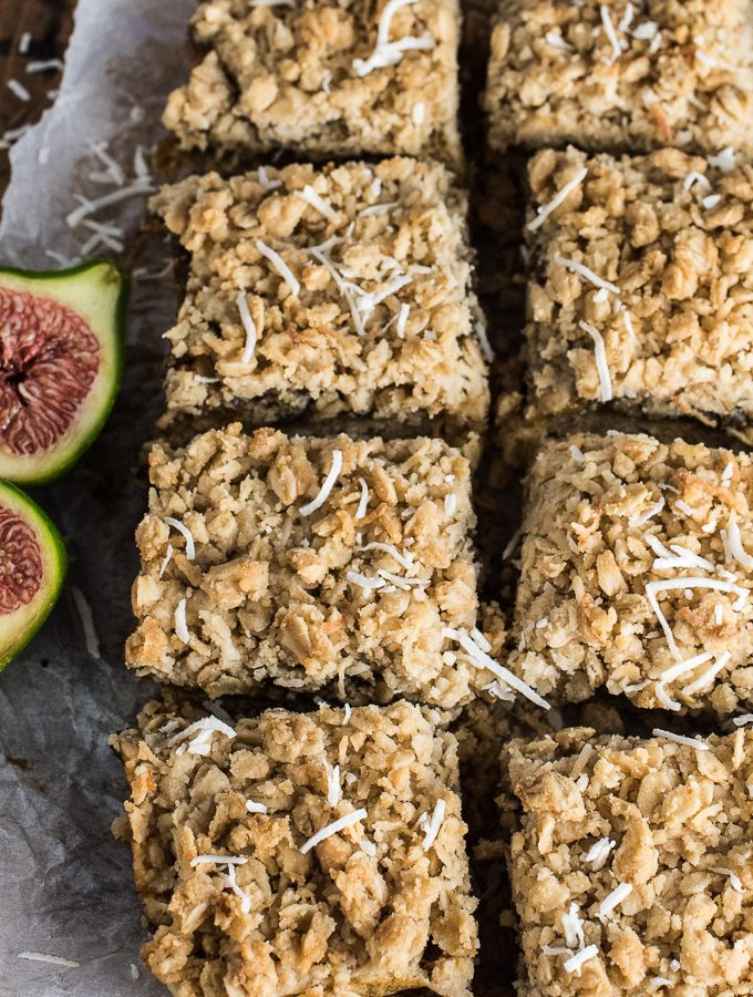 These delicious Coconut Fig Squares are a lot like dates squares, only made with fresh green figs. Add them to your list of must-make dessert recipes during fig season! | thendlessmeal.com