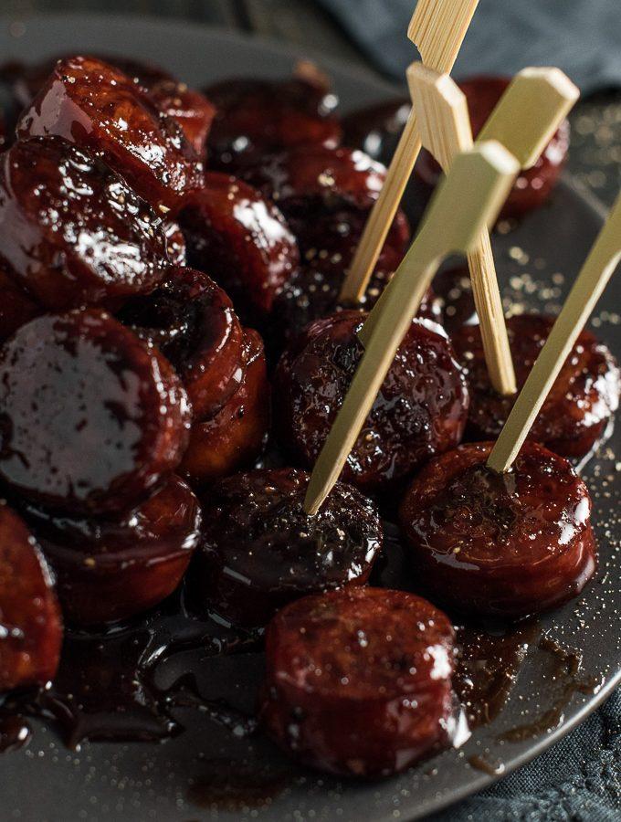 Red Wine Chorizo Bites