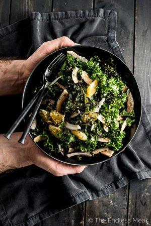 Sesame Coconut Kale Salad