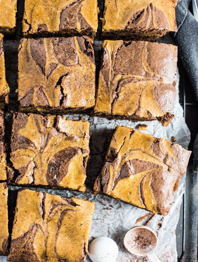 Sweet Harvest Pumpkin Brownies