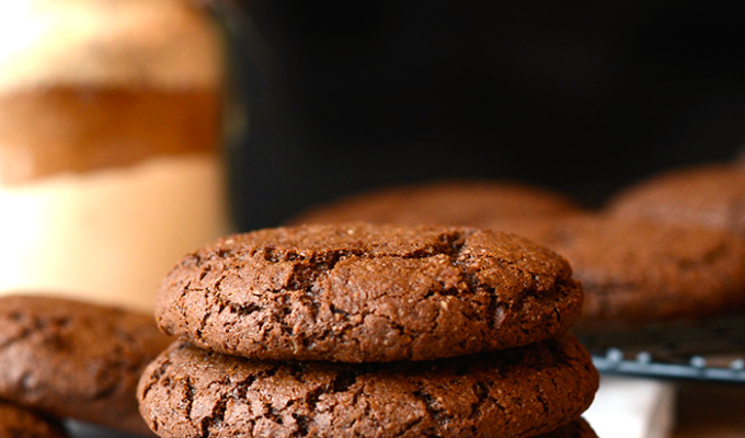 Chewy Gluten-Free Chocolate Ginger Molasses Cookies by Fit Foodie Finds | The 15 Best Healthy Cookie Recipes