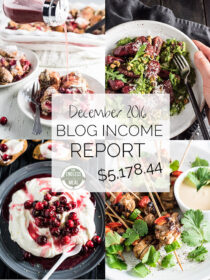 Food Blog Income Report for December 2016. Learn traffic building and blog monetization strategies used by The Endless Meal. | theendlessmeal.com