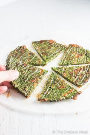 Green Veggie Pizza Crust