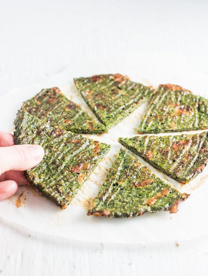 Green Veggie Pizza Crust