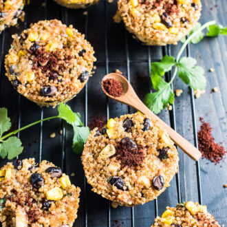 These delicious Southwest Quinoa Muffins are loaded with all your favorite Tex-Mex flavors and are as healthy as they are tasty. They're great as a snack or with a big bowl of chili. | theendlessmeal.com