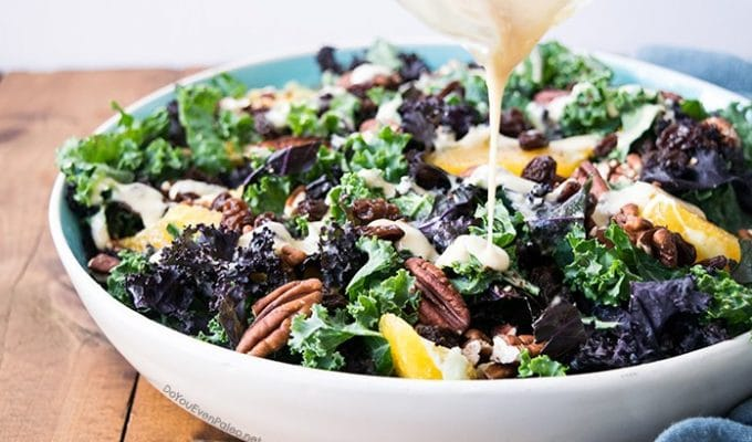 Orange Pecan Kale Salad by Do You Even Paleo? | The 15 Best Whole30 Easter Recipes
