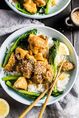 Tangy Sesame Lemon Chicken