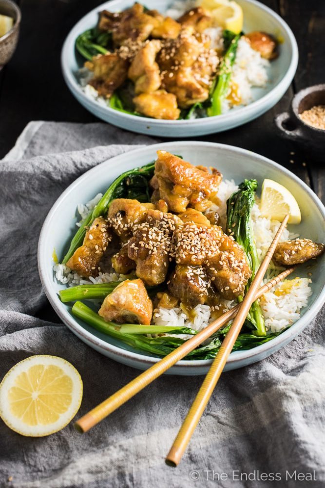 Tangy sesame lemon chicken the endless meal this delicious sesame lemon chicken is easy to make and better than any take out forumfinder Images