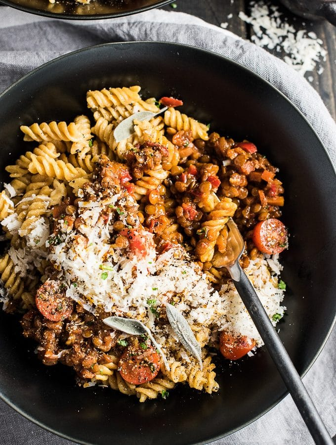 Deliciously Rich Lentil Bolognese