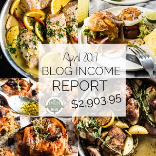 Food Blog Income Report for April 2017. Learn traffic building and blog monetization strategies used by The Endless Meal. | theendlessmeal.com