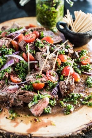 Chimichurri Steak Bites
