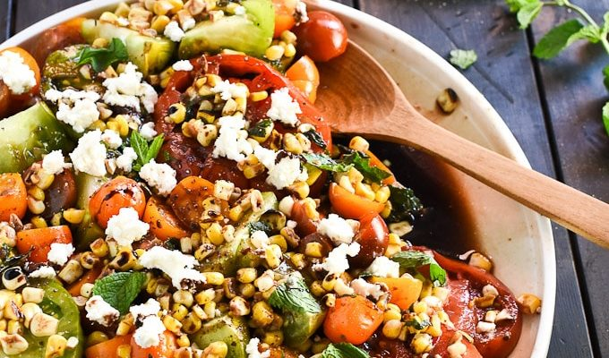 Summer Tomato + Grilled Corn Salad by The Endless Meal | The 15 Best Healthy Memorial Day Recipes