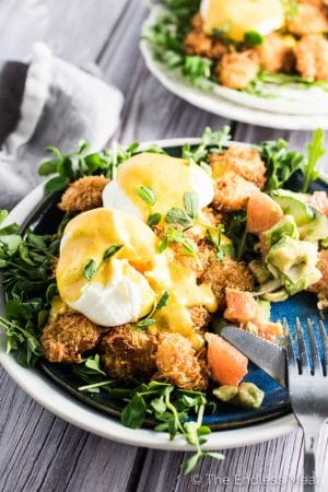 Thai Coconut Shrimp Eggs Benedict