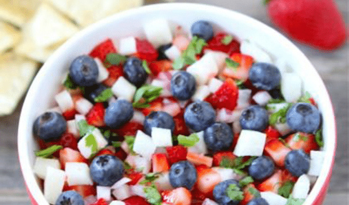 Blueberry, Strawberry + Jicama Salsa by Two Peas & Their Pod | The 15 Best Healthy Memorial Day Recipes