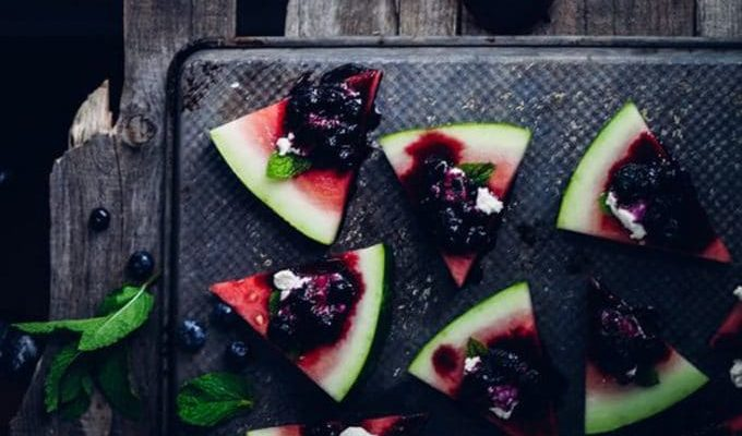 Blueberry & Goat Cheese Watermelon by My Lavender Blues | The 15 Best Healthy Memorial Day Recipes
