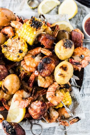 Cajun Shrimp Boil Skewers