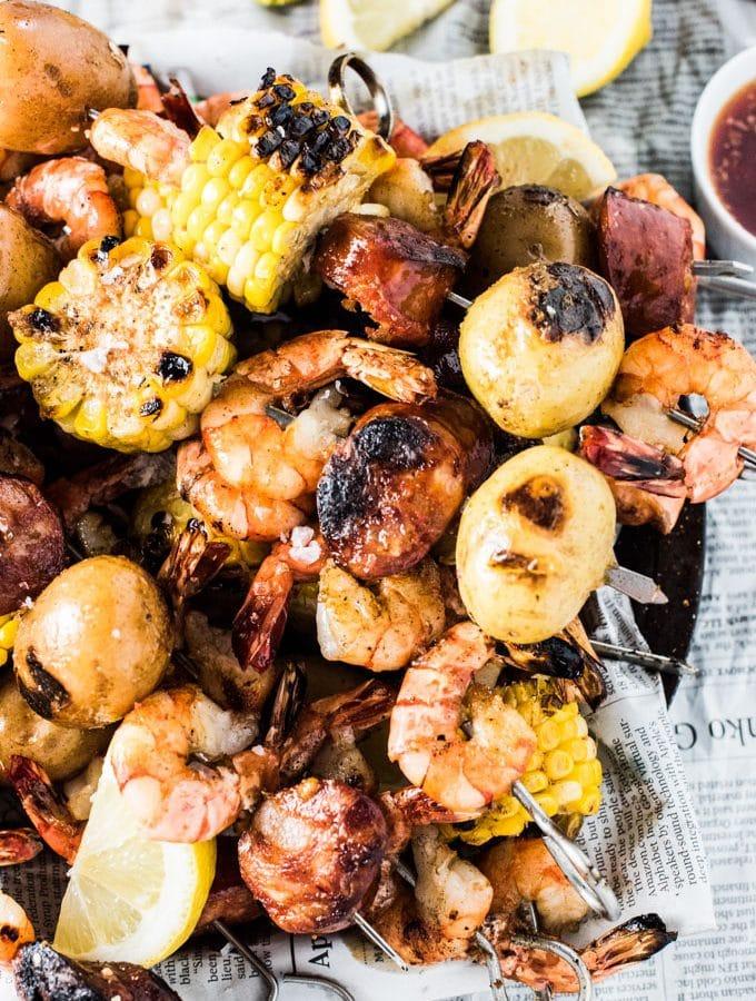 Cajun Shrimp Boil Skewers