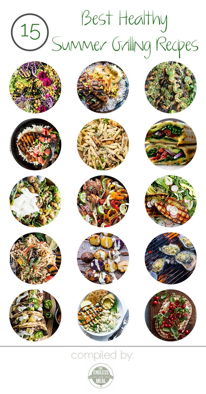 Summer is all about spending time outside enjoying the wonderful weather. Try these 15 Best Healthy Summer Grilling Recipes to spice up your summer BBQs and dinners!