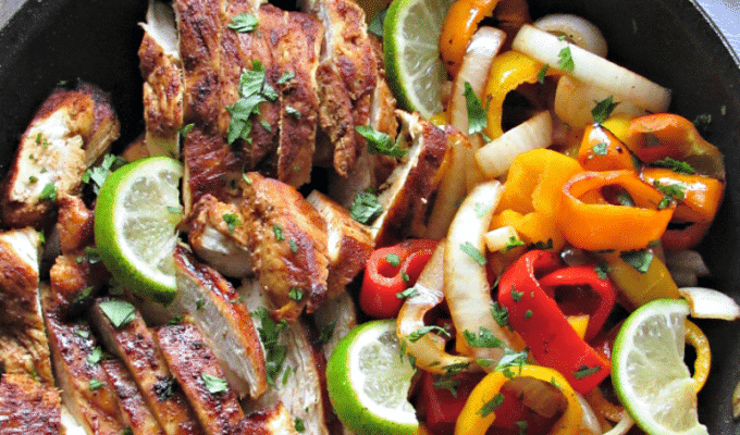 Margarita Chicken Fajitas by A Gouda Life | The 15 Best Healthy Summer Grilling Recipes
