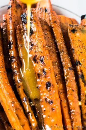 Grilled Maple Dijon Carrots