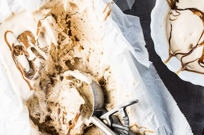 This easy to make Salted Caramel No Churn Ice Cream is as good as it gets. It's super creamy and delicious and is made without an ice cream maker. You will LOVE it! | theendlessmeal.com