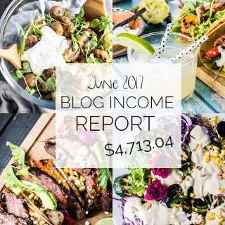 Food Blog Income Report for June 2017. Learn traffic building and blog monetization strategies used by The Endless Meal. | theendlessmeal.com