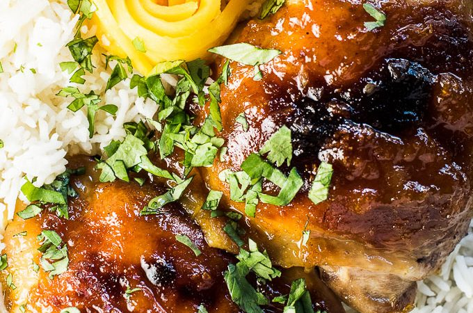 This crazy delicious Mango Chutney Chicken is as good as it gets and the ultimate quick and easy weeknight meal. With 10 minutes of prep, you can walk away knowing dinner is cooking itself. It's a gluten-free and dairy-free dinner recipe that can easily be made paleo. | theendlessmeal.com