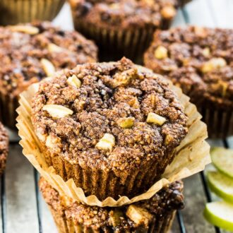 These delicious Paleo Apple Cinnamon Muffins are the perfect way to start the day. They are a quick, grab and go breakfast recipe for busy weekday mornings but tasty enough as part of a weekend brunch. You would never guess that they are gluten-free + paleo. | theendlessmeal.com