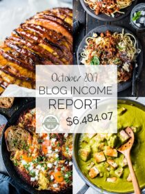 Food Blog Income Report for October 2017. Learn traffic building and blog monetization strategies used by The Endless Meal. | theendlessmeal.com
