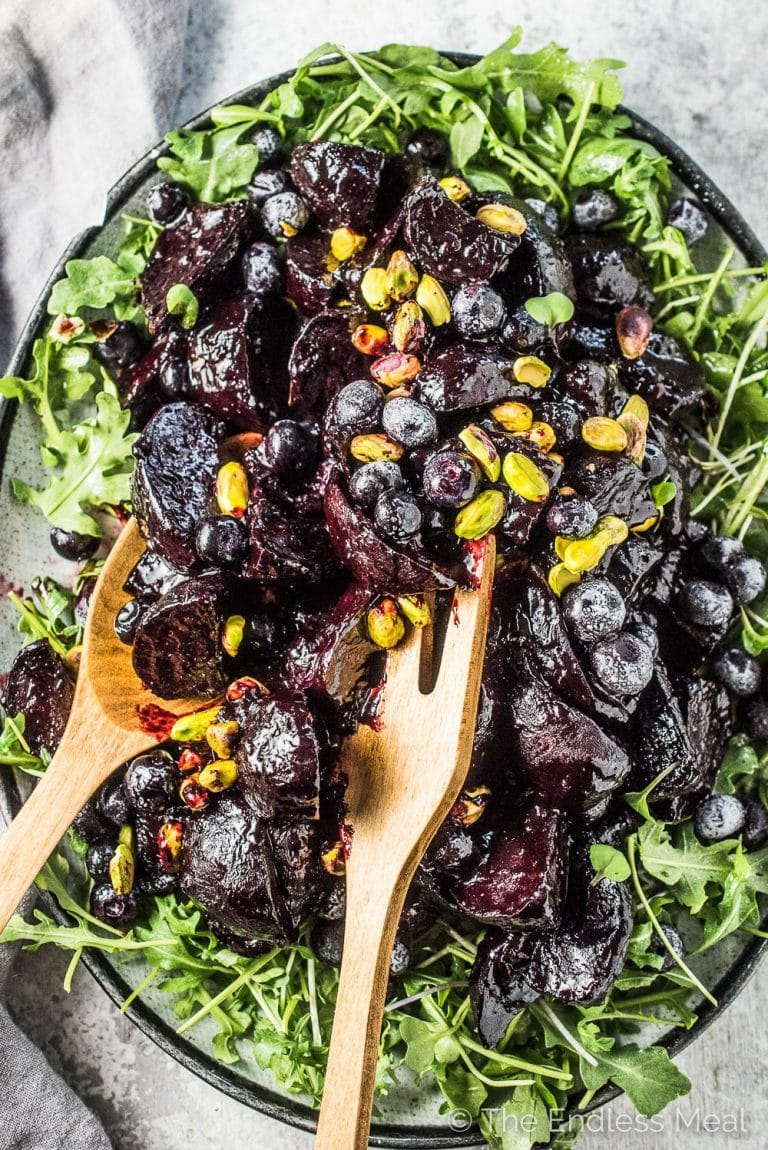 Blueberry Balsamic Glazed Beets The Endless Meal