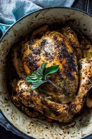 Lemon Herb Butter Roast Chicken