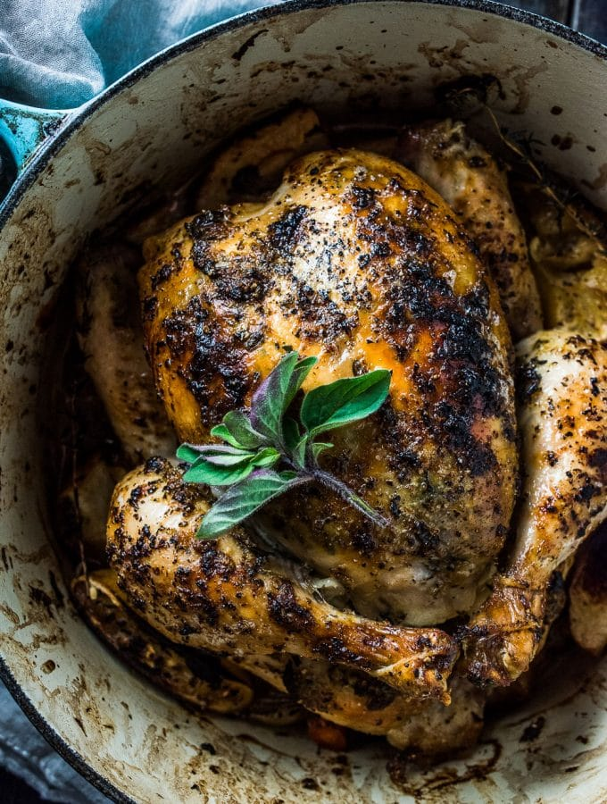Lemon Herb Butter Roast Chicken