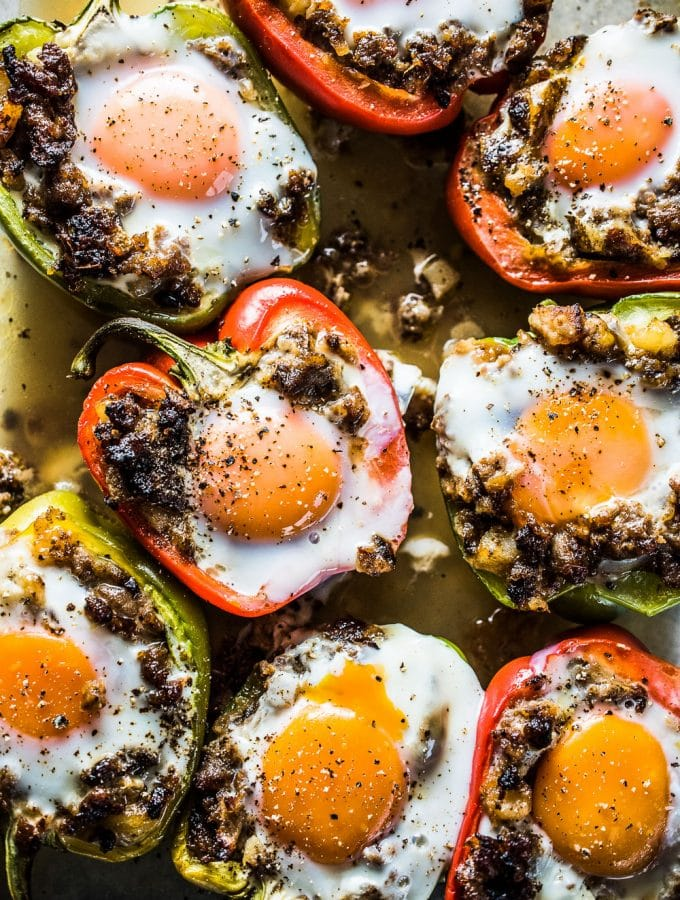 Egg and Sausage Stuffed Peppers