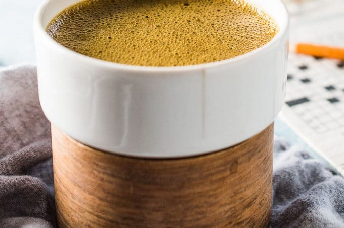 This delicious Coconut Turmeric Latte is the ultimate healthy indulgence. It tastes like a creamy dessert coffee but is so good for you. Don't worry, even though you don't taste the turmeric, you still get all of its health benefits.   theendlessmeal.com
