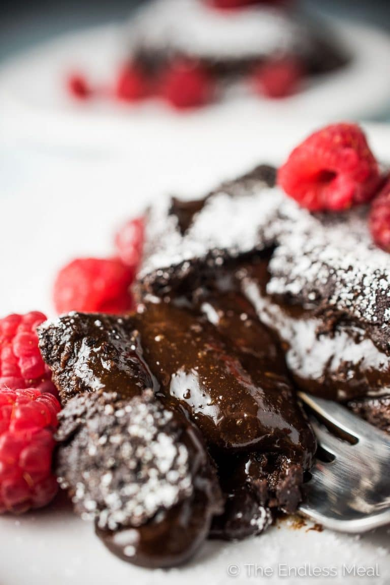 If you're looking for the best Molten Chocolate Lava Cakes recipe, you've come to the right place. These babies are super rich, perfectly sweetened, and every bit as ooey and gooey as they should be. (PS. don't tell anyone but the ingredients are all healthy, too!)   theendlessmeal.com   #lavacake #cake #valentinesrecipes #vitalproteins #collagen #glutenfree