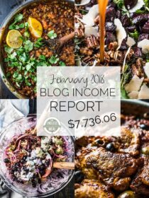Food Blog Income Report for February 2018. Learn traffic building and blog monetization strategies used by The Endless Meal. | theendlessmeal.com | #incomereport #blogincome