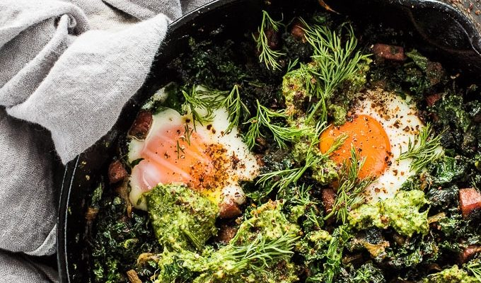 Green Eggs + Ham Shakshuka by The Endless Meal | The 15 Best Healthier St. Patrick's Day Recipes
